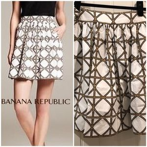 Banana Republic Flared Lattice print skirt sz 6